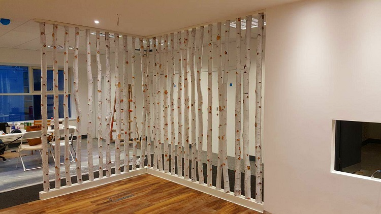 پارتیشن بندی خانگی با الوار چوب