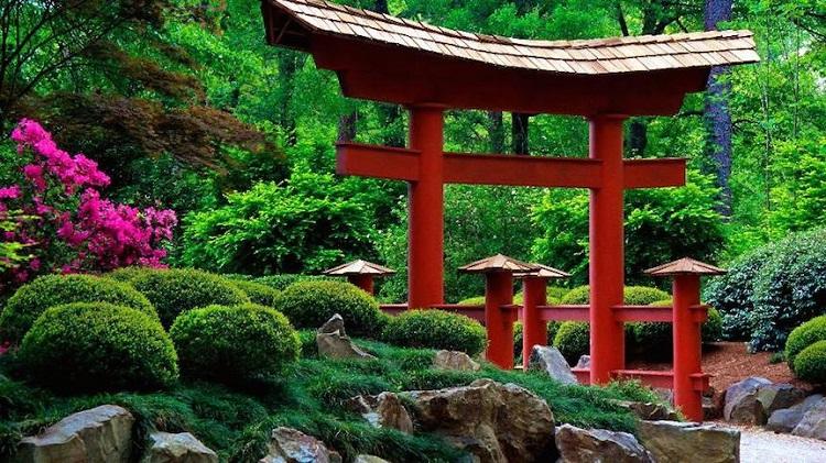 محوطه باغ ژاپنی