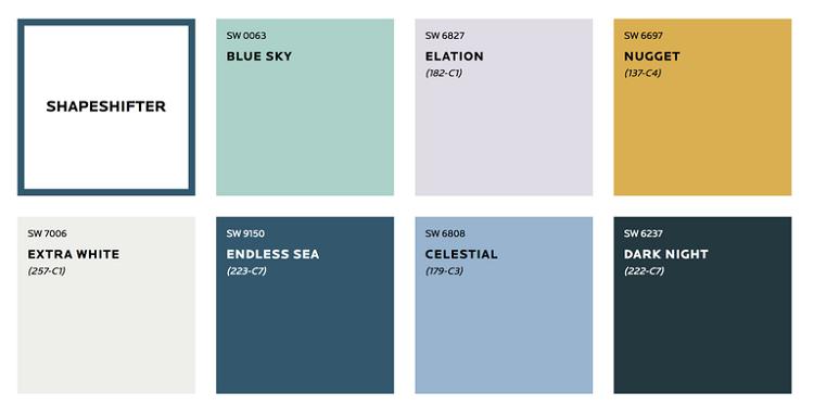 پالت رنگ های پاستلی و سفید جدید برای دکوراسیون خانه