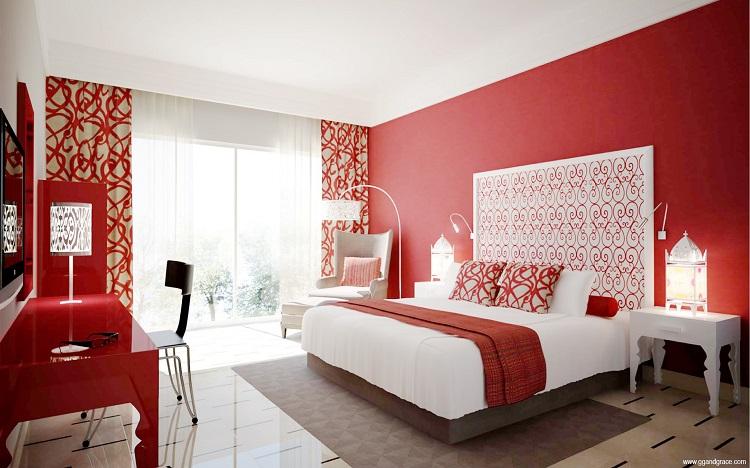 رنگ قرمز برای اتاق خواب
