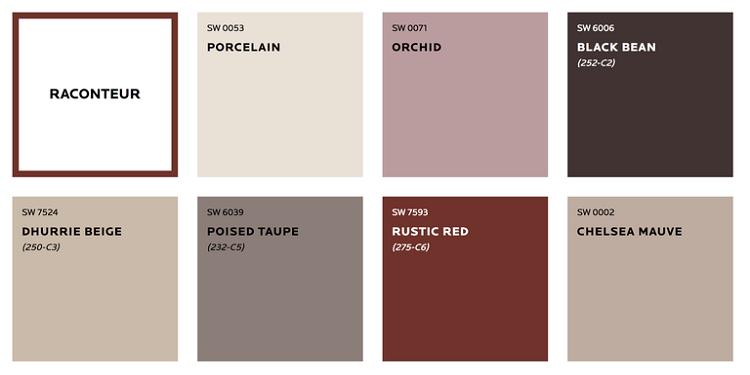 پالت رنگ های زمینی و قهوه ای جدید برای دکوراسیون خانه