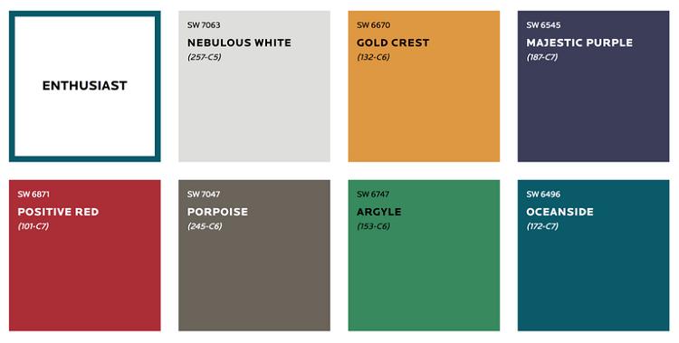 پالت رنگ های گرم جدید برای دکوراسیون خانه