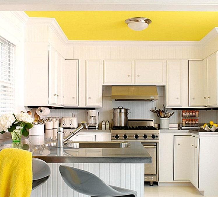 آشپزخانه زرد و سفید